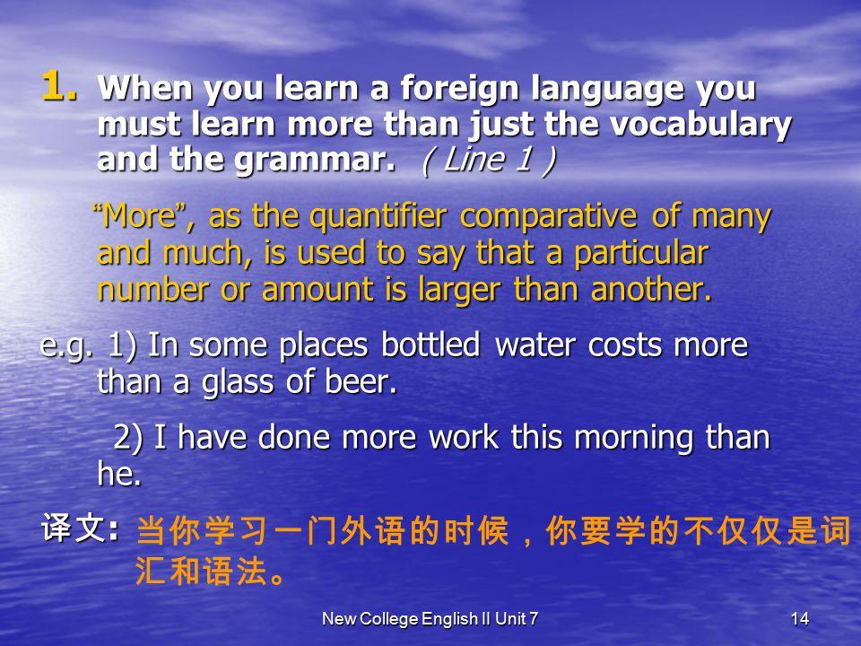 New College English II Unit 7 13 Text Study