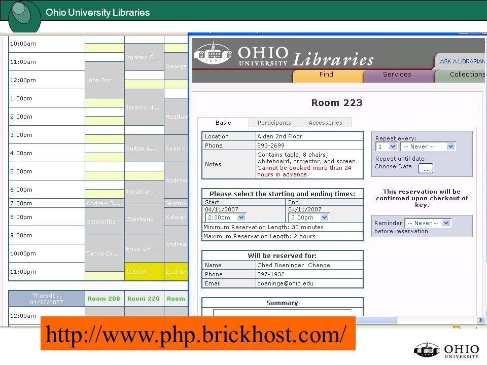 Ohio University Libraries http://www.php.brickhost.com/