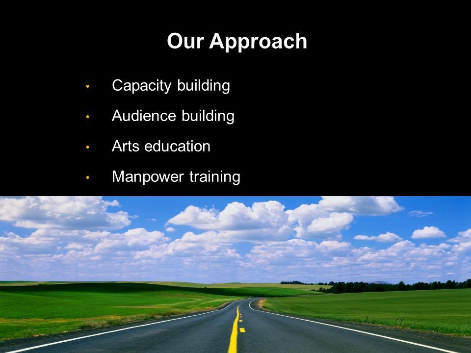 Capacity building Audience building Arts education Manpower training