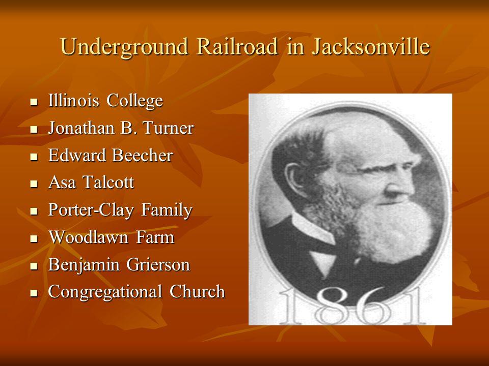 Innovators in Jacksonville Jonathan B. Turner Jonathan B. Turner Dr. Vardiman Black Dr. Vardiman Black Dr. Kenniebrew Dr. Kenniebrew Samuel Nichols Sa