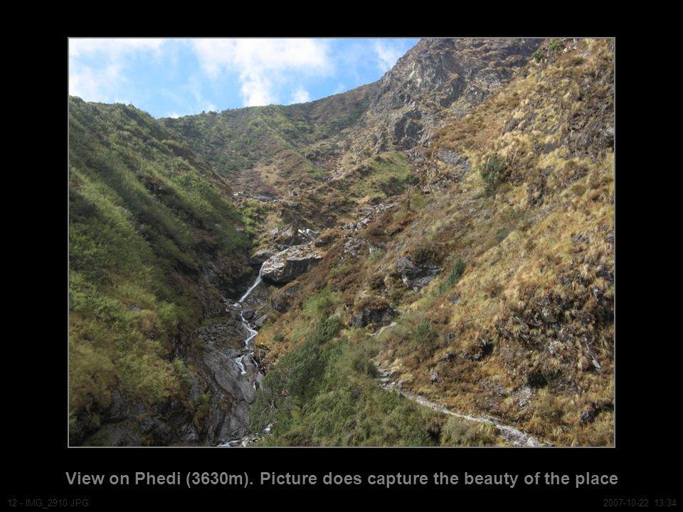 View on Phedi (3630m).
