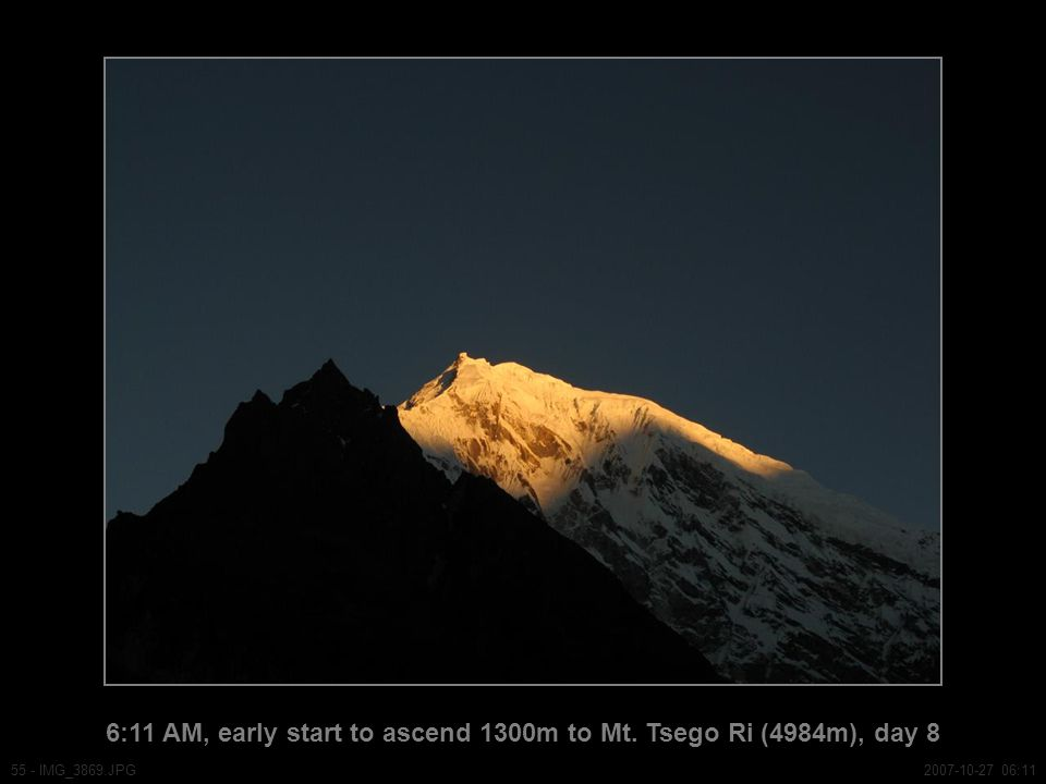 6:11 AM, early start to ascend 1300m to Mt.