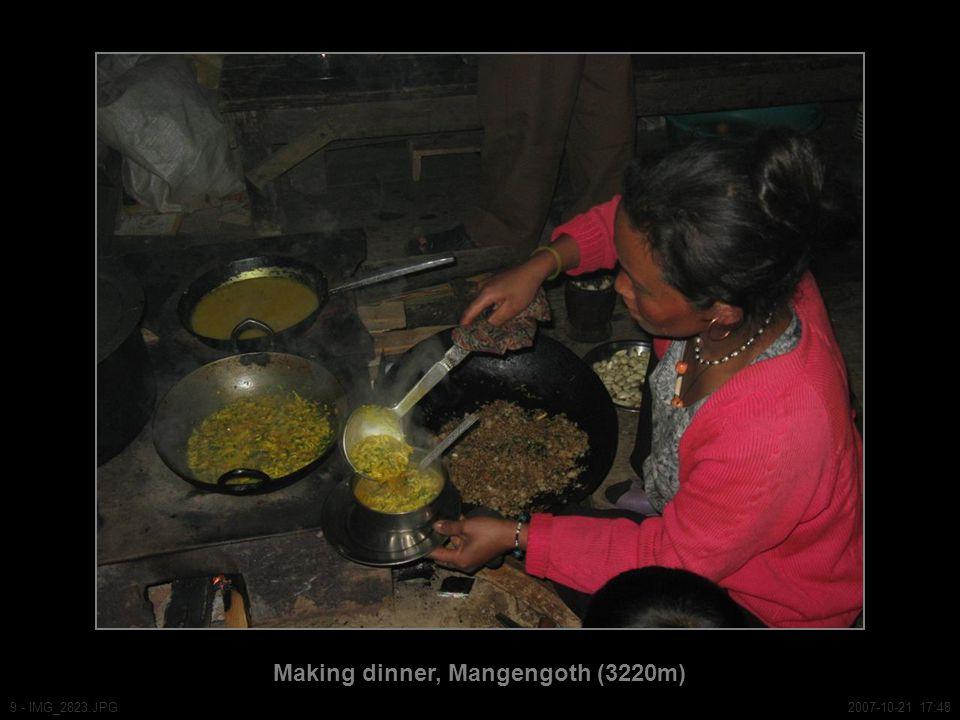 Making dinner, Mangengoth (3220m) 9 - IMG_2823.JPG2007-10-21 17:48