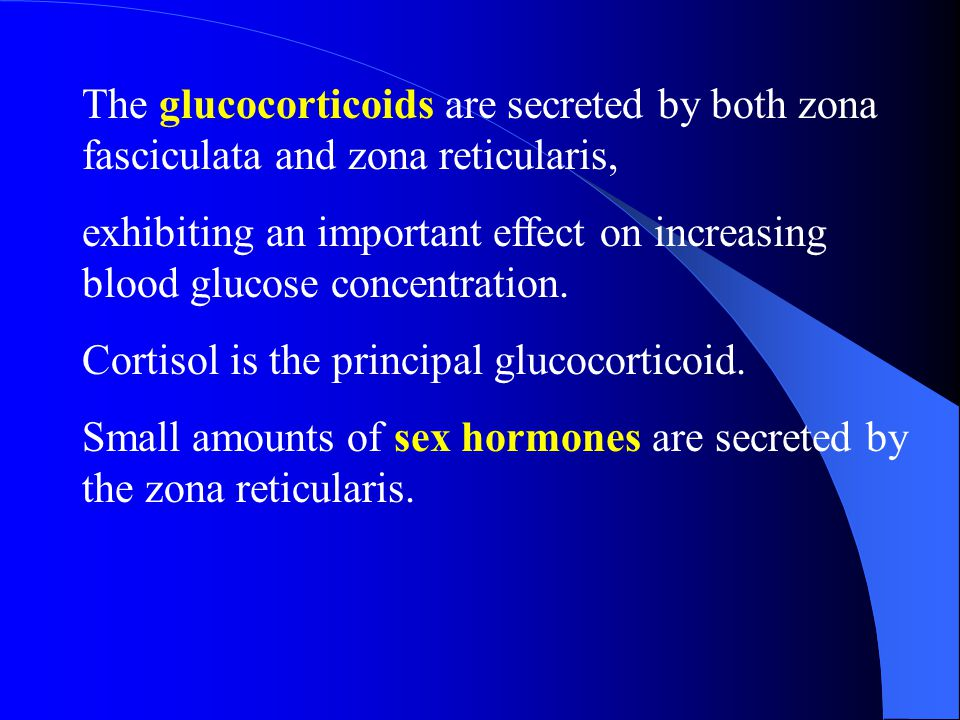I.Adrenal Cortical Hormones The mineralocorticoids are secreted by zona glomerulosa, regulates the concentration of the extracellular fluid. Aldostero