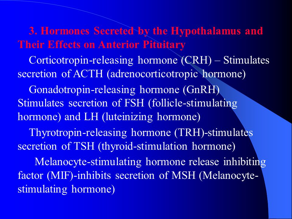These releasing hormones regulate the anterior pituitary to secrete its hormones in the general circulation.