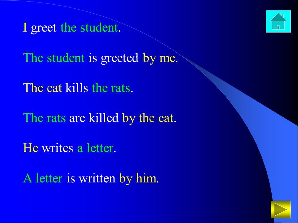 Ravi Varma teaches us grammar.Grammar is taught by Ravi Varma to us.