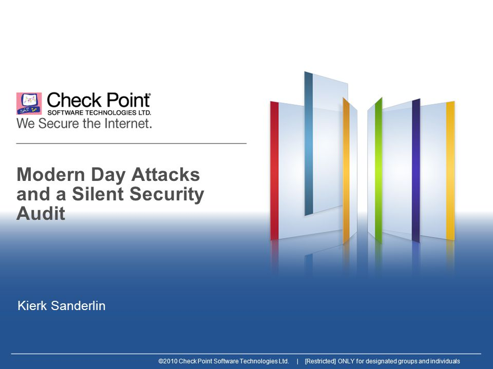 12 ©2010 Check Point Software Technologies Ltd.