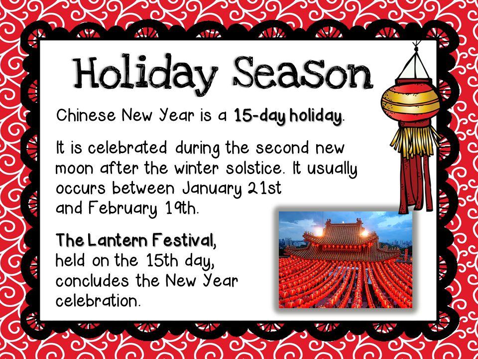 Lunar YearLunar Year lunar changes every year The Chinese calendar is based on the lunar year, so the date of Chinese New Year changes every year.