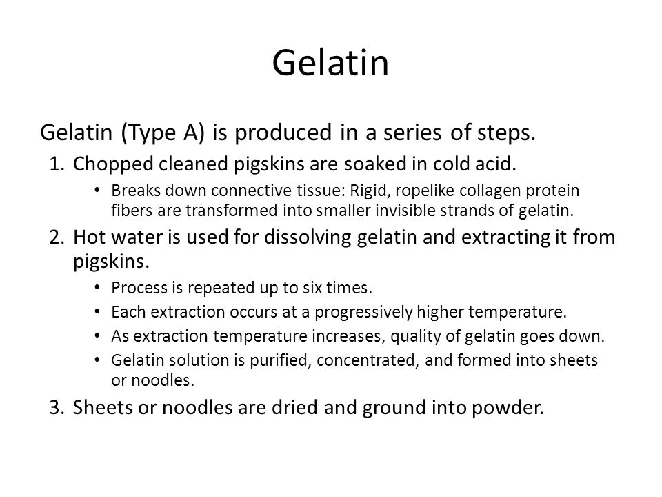 Starches Starch gelatinization – Occurs when starch is heated in presence of water.