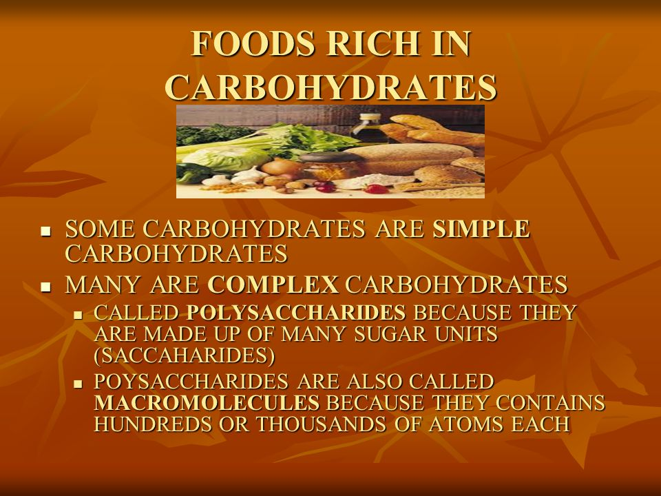 COMPLEX CARBOHYDRATES: STARCHES, CELLULOSE, GUMS AND PECTINS