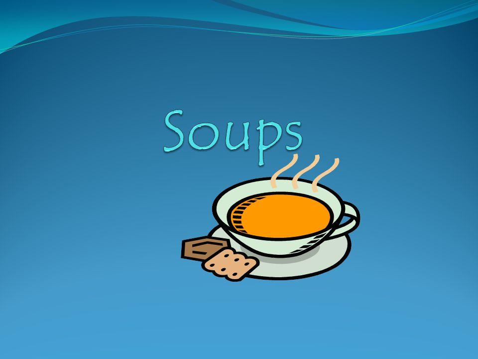 Examples of Cream Soups Cream of Potato Clam Chowder Cream of Broccoli