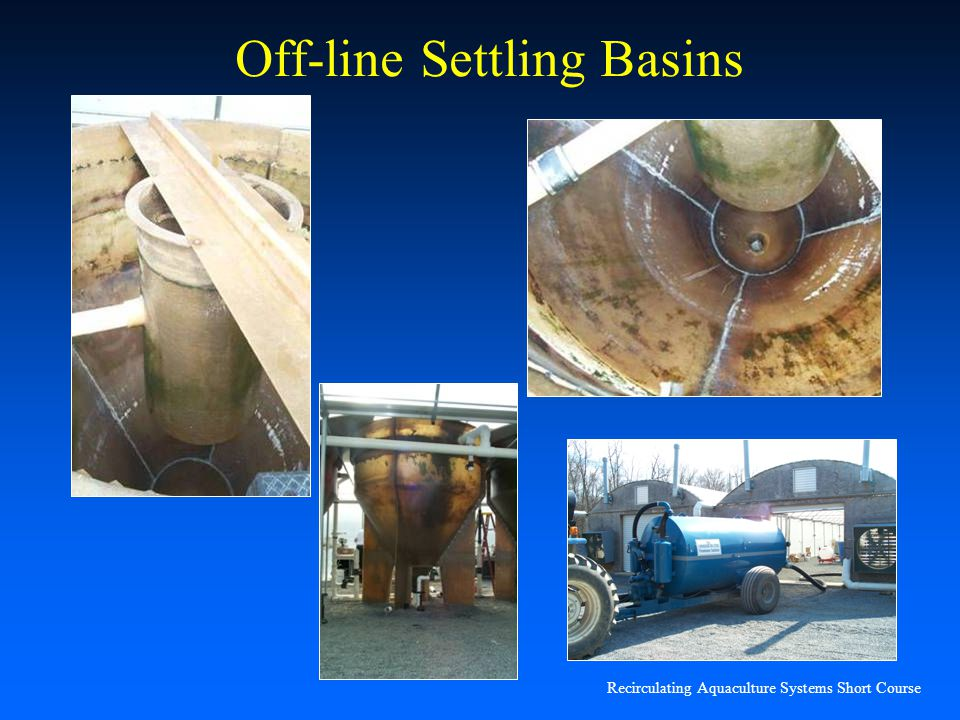 Recirculating Aquaculture Systems Short Course Off-line Settling Basins