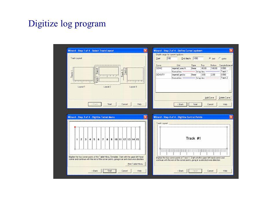 Digitize log program