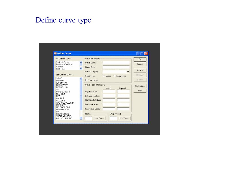 Define curve type