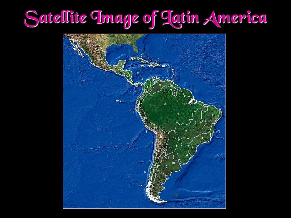 Satellite Image of Latin America
