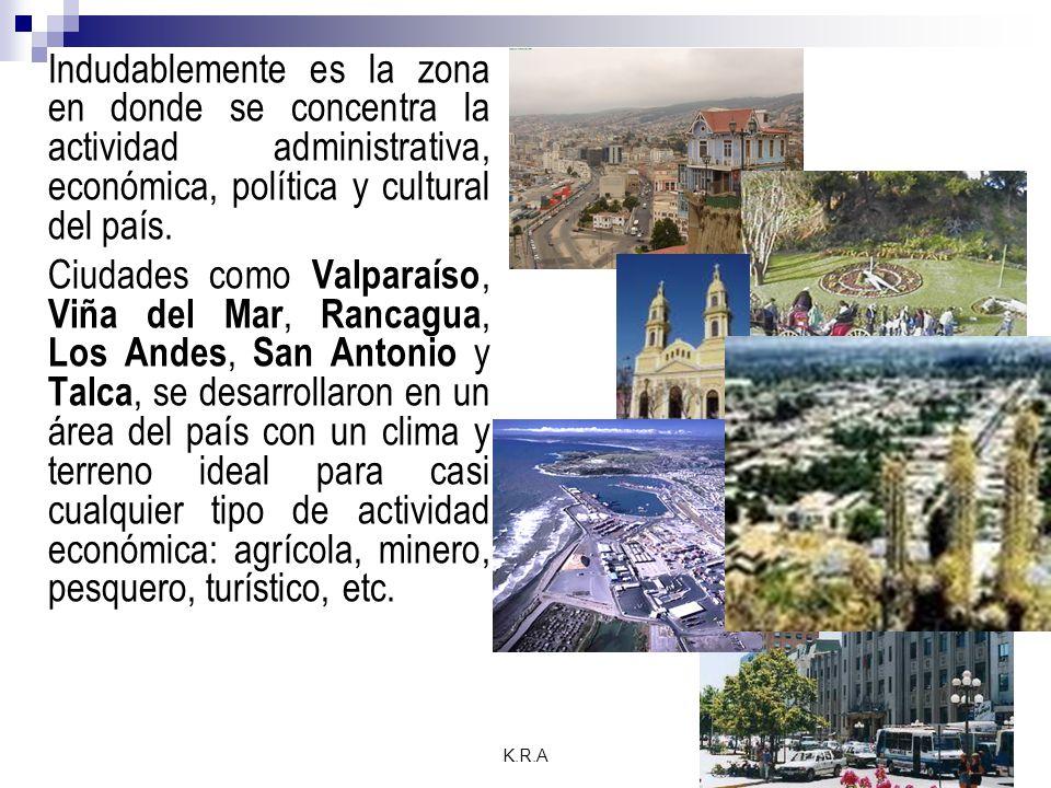 K.R.A Indudablemente es la zona en donde se concentra la actividad administrativa, económica, política y cultural del país.