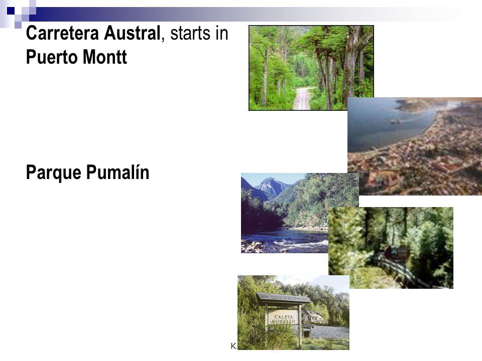 K.R.A Carretera Austral, starts in Puerto Montt Parque Pumalín