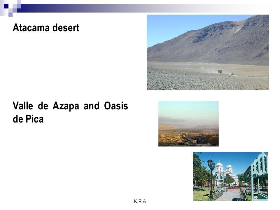 K.R.A Atacama desert Valle de Azapa and Oasis de Pica