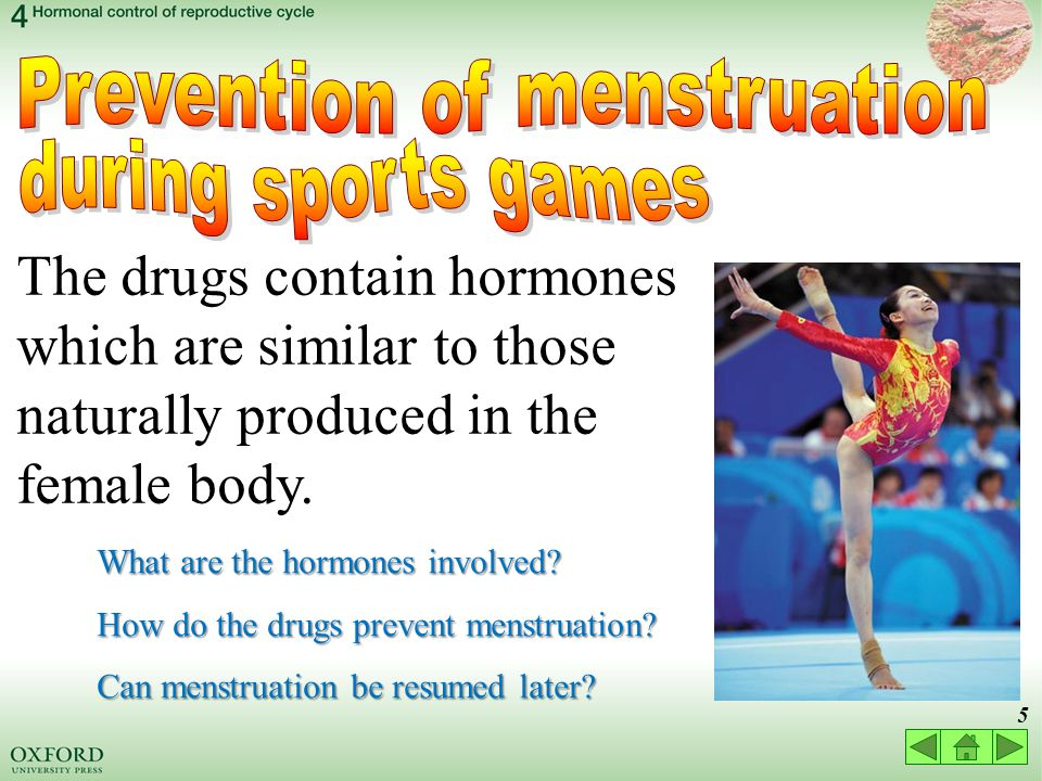 25 4.1 Hormonal control of the menstrual cycle pituitary gland ovary yellow body  LH stimulates development of yellow body and hence progesterone secretion yellow body