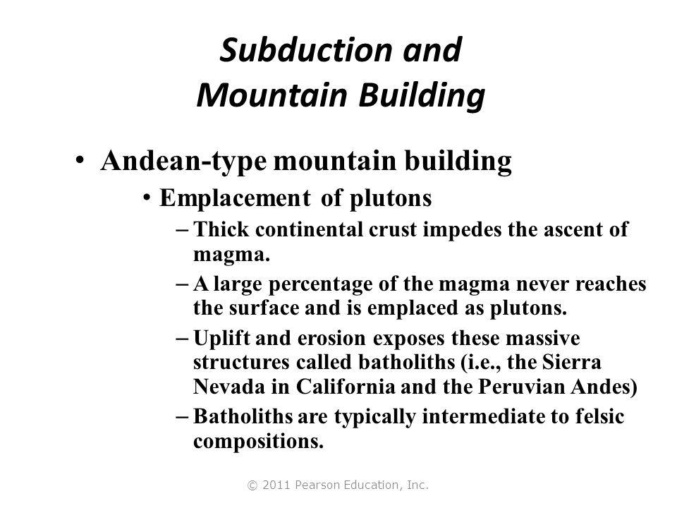 © 2011 Pearson Education, Inc. Andean-Type Plate Margin