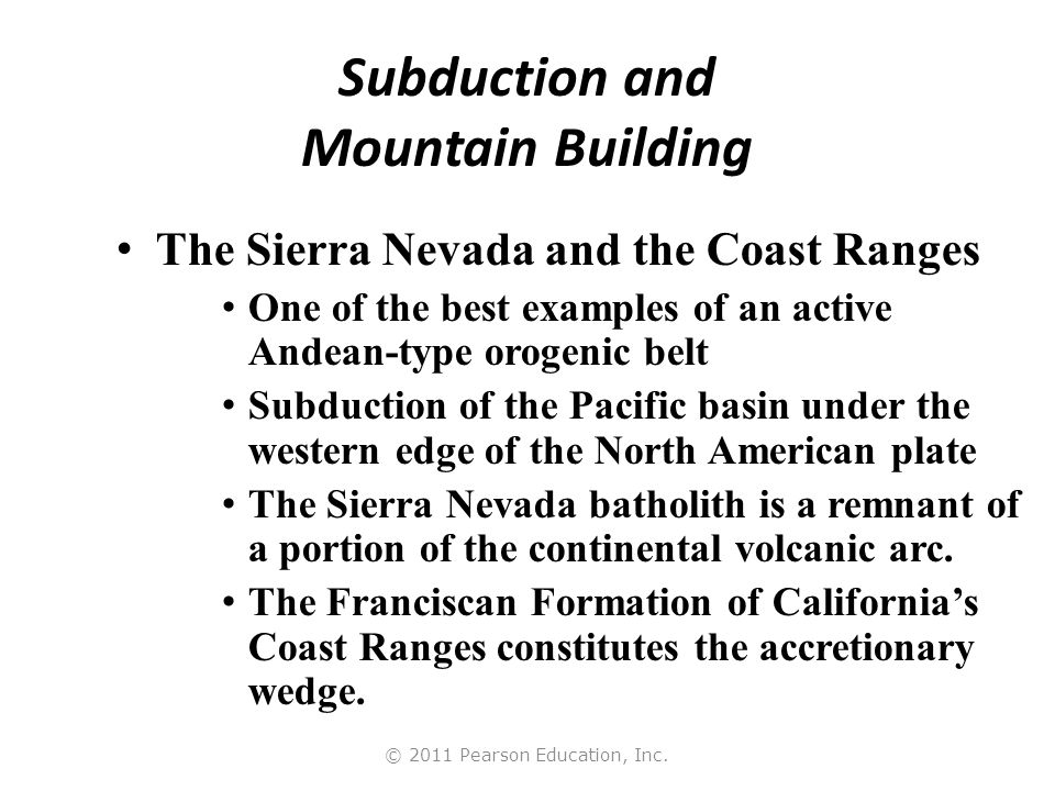 © 2011 Pearson Education, Inc. Mountains and Landforms of the Western United States