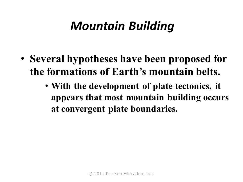 © 2011 Pearson Education, Inc. Earth's Major Mountain Belts
