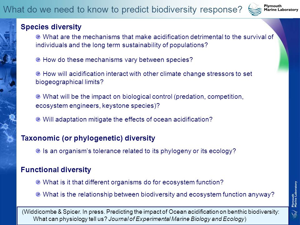 What do we need to know to predict biodiversity response.