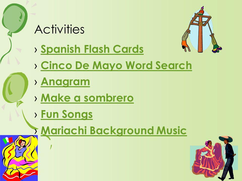 › Spanish Flash Cards Spanish Flash Cards › Cinco De Mayo Word Search Cinco De Mayo Word Search › Anagram Anagram › Make a sombrero Make a sombrero ›