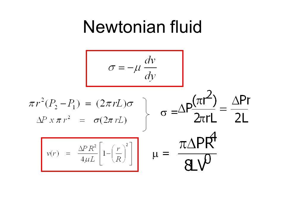 Newtonian fluid  = =  = =