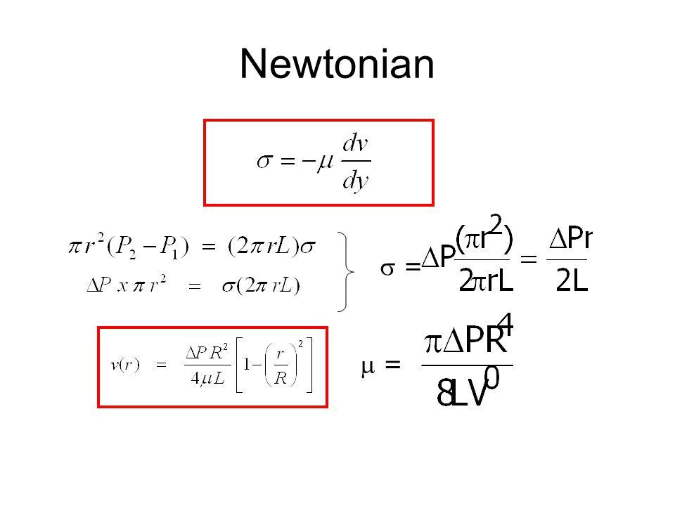 Newtonian  = =  = =