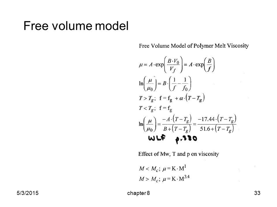 5/3/2015chapter 833 Free volume model