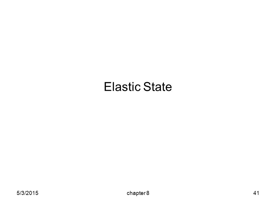 5/3/2015chapter 841 Elastic State