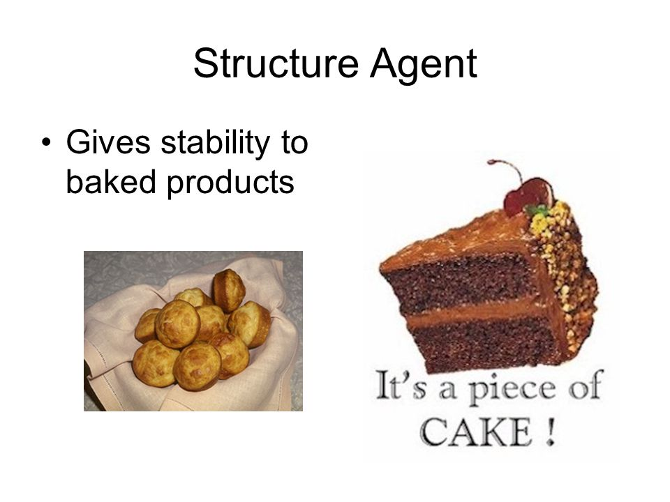 Structure Agent Gives stability to baked products
