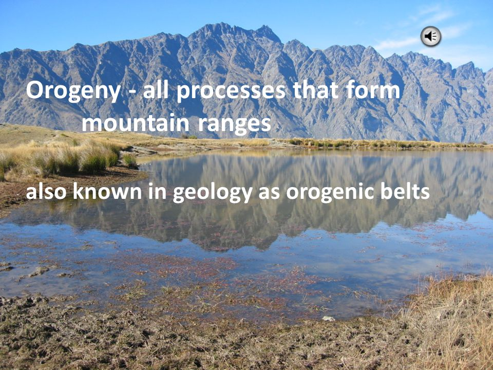 Convergence causes the crust to thicken and form mountain belts. Orogeny Section 20.2 island arc: a line of islands that forms over a subducting ocean