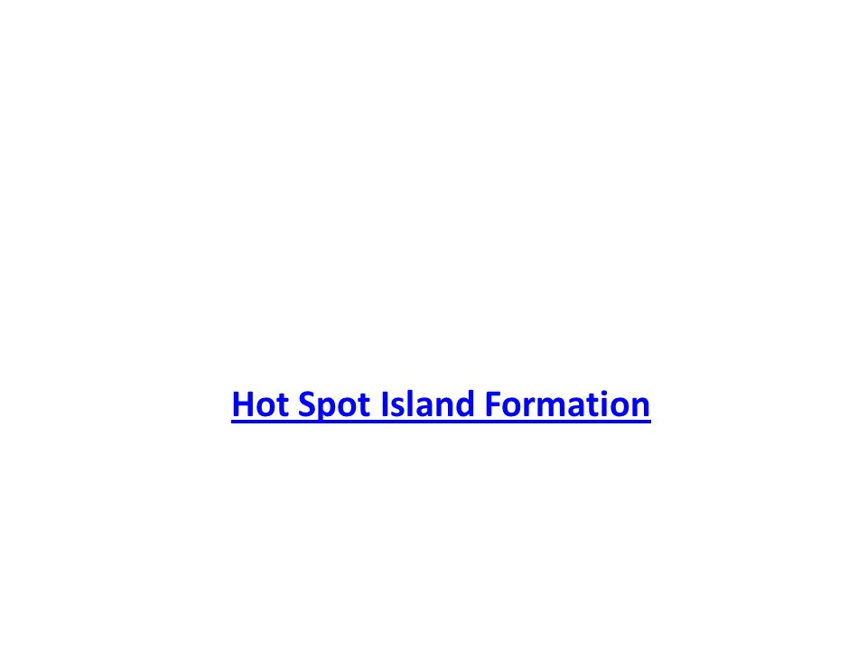 Orogeny Section 20.2 Hot Spot Island Formation