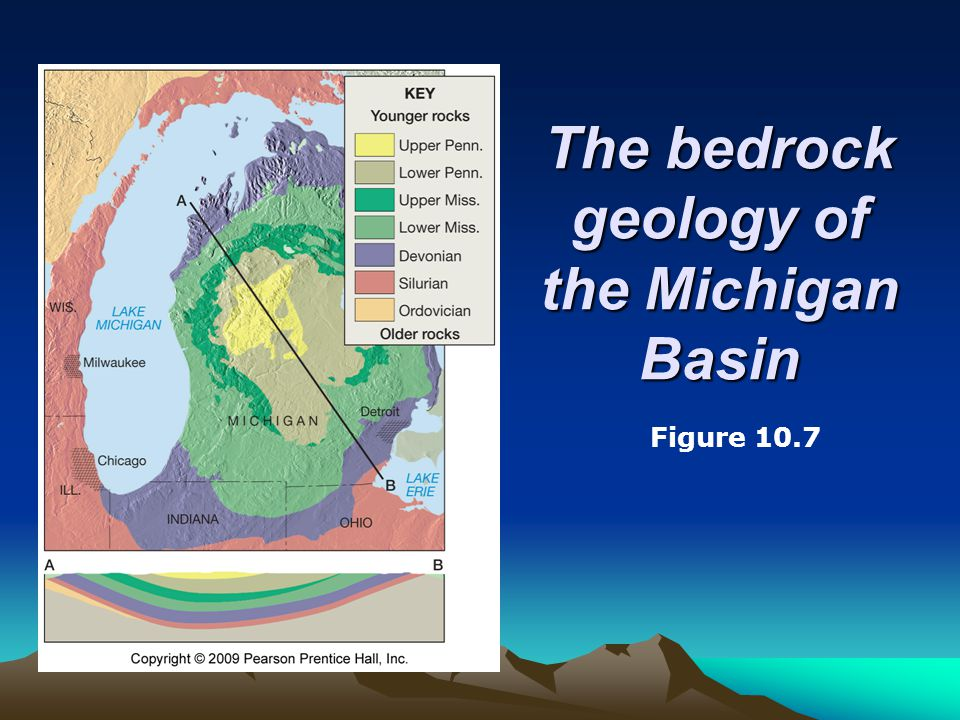 The bedrock geology of the Michigan Basin Figure 10.7