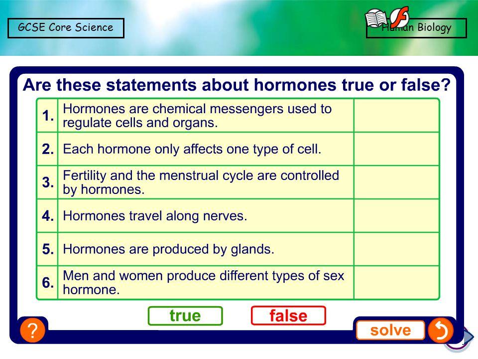 GCSE Core ScienceHuman Biology