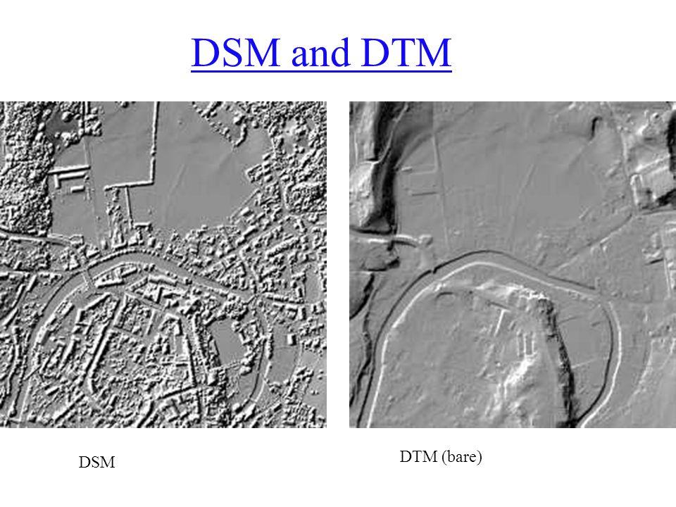 DSM and DTM DSM DTM (bare)