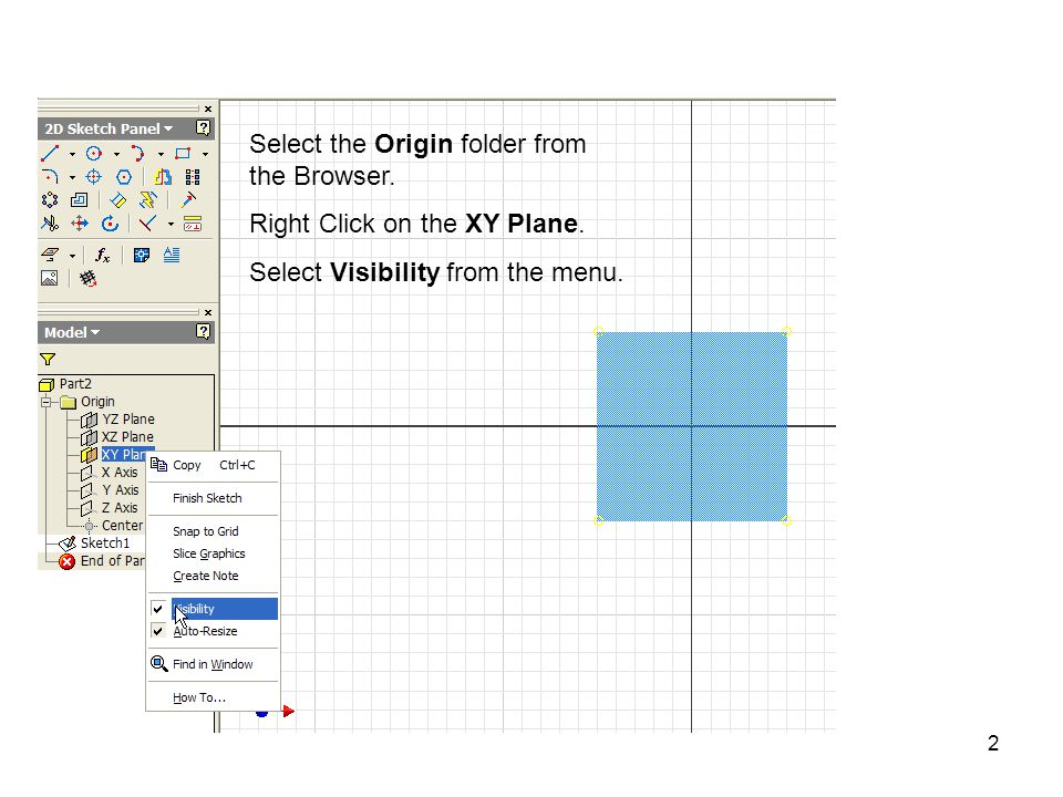 23 Rotate the View over to see the dimensions.Select the Project Geometry icon.