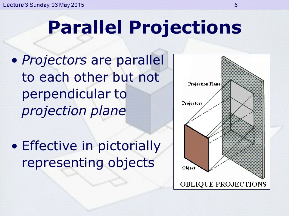 Lecture 3 Sunday, 03 May 2015 17 First Angle Projection