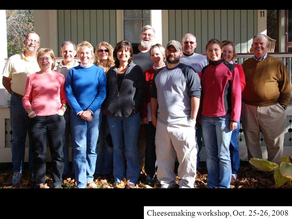 Cheesemaking workshop, Oct. 25-26, 2008