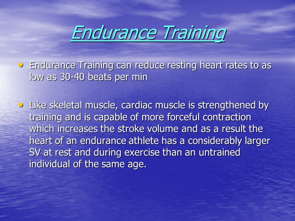 Comparison of Maximal CO in Trained and Untrained Individuals When comparing the Cardiac Output during maximal exercise in trained and untrained individuals, it can be seen that the endurance athlete achieves a larger CO mainly because of a relatively greater increase in stroke volume.