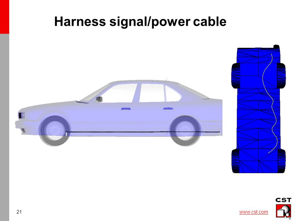 21 www.cst.com Harness signal/power cable