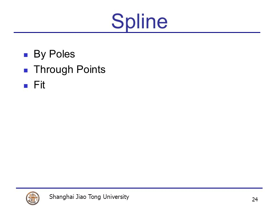 Shanghai Jiao Tong University 24 Spline By Poles Through Points Fit