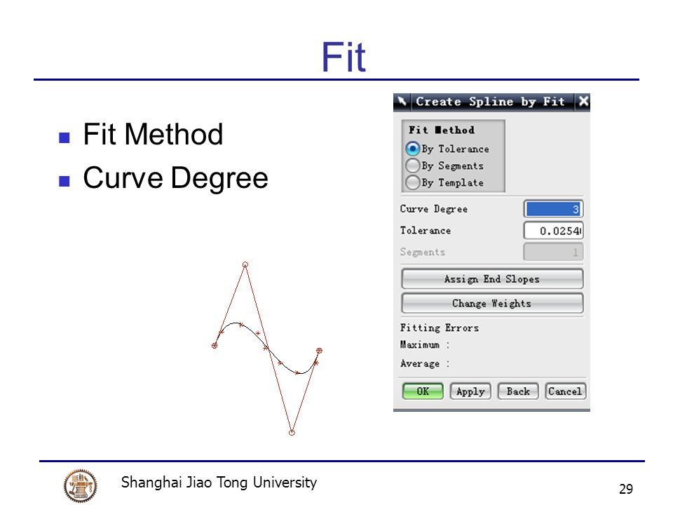 Shanghai Jiao Tong University 29 Fit Fit Method Curve Degree