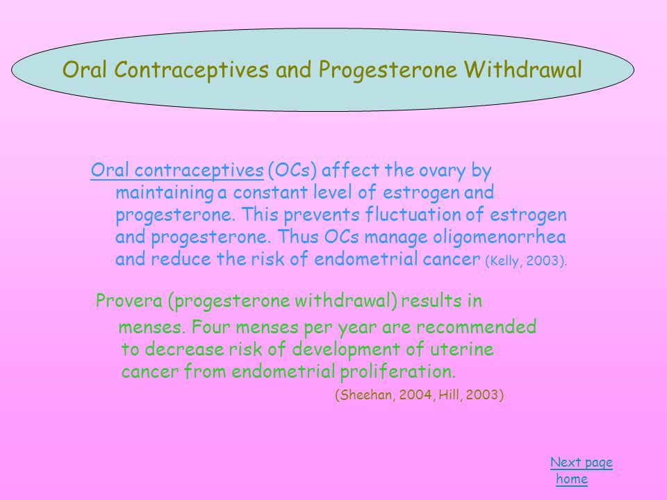 Oral contraceptives (OCs) affect the ovary by maintaining a constant level of estrogen and progesterone.