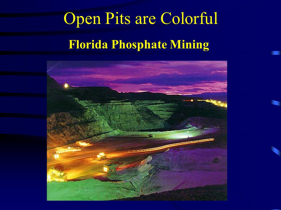 Open Pits are Colorful Florida Phosphate Mining