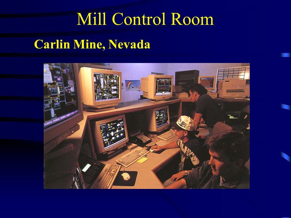 Mill Control Room Carlin Mine, Nevada