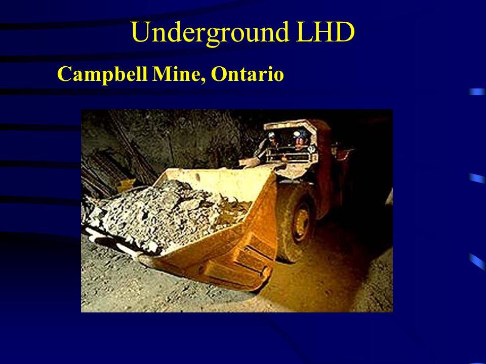 Underground LHD Campbell Mine, Ontario
