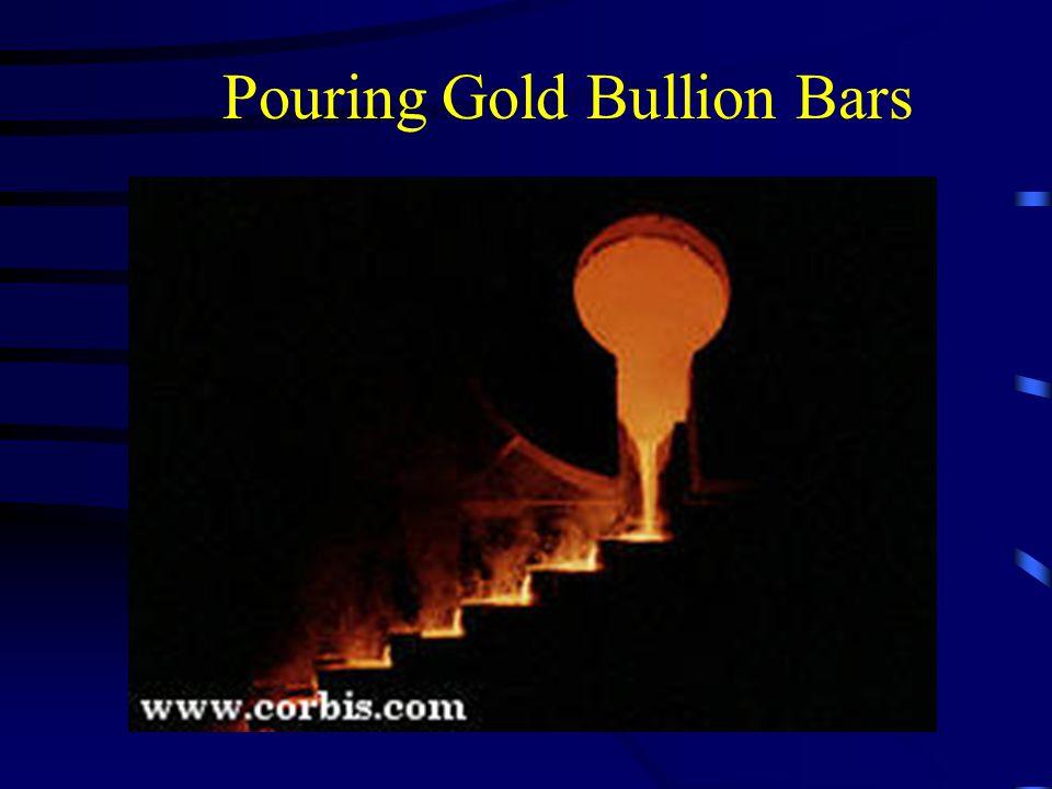 Pouring Gold Bullion Bars